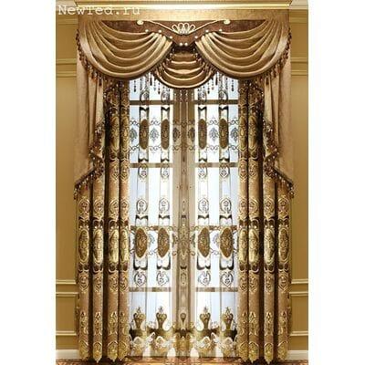 Роскошные коричневые шторы