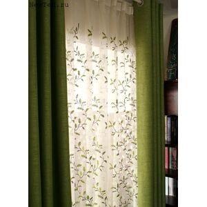 Комплект зеленых штор
