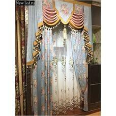 Жаккардовые шторы с цветами