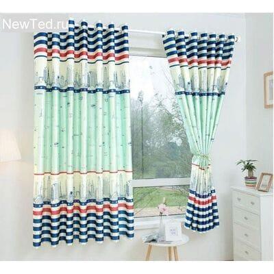 Яркие готовые шторы в кухню