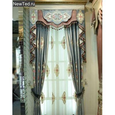 Королевский подарок - шторы в стиле рококо