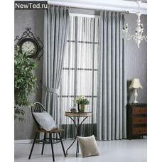 Серые шторы в зал