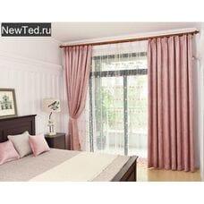 Шторы розовые в спальню