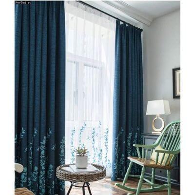 Шторы и тюль с цветочным мотивом для вашего дома
