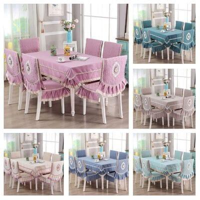 Скатерть и чехлы на стулья для столовой