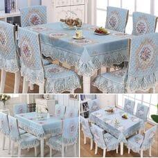 Комплект скатерть и чехлы на стул № 7-2