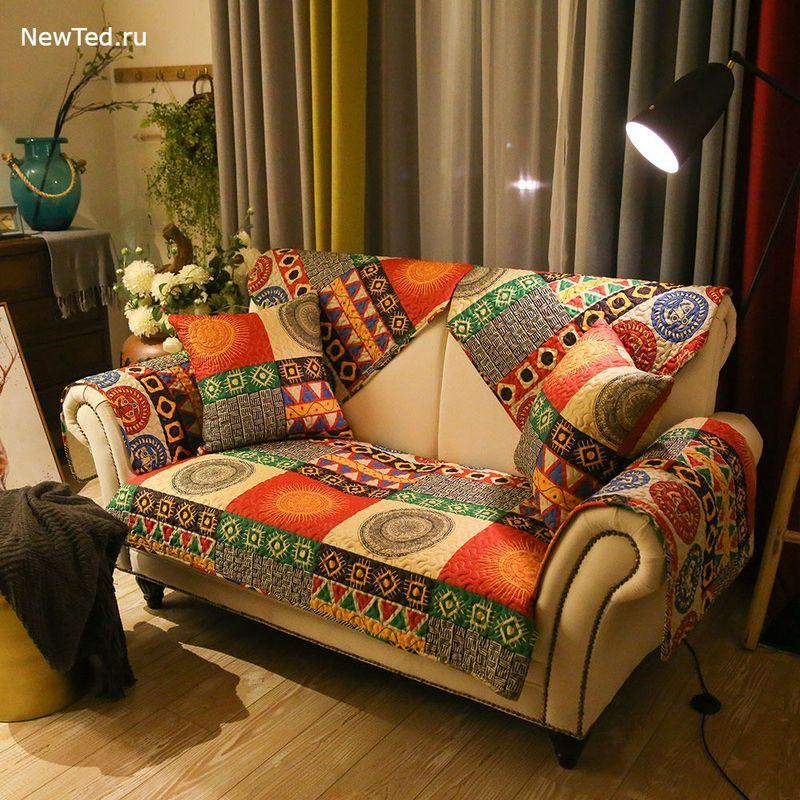 Накидка на диван в богемском стиле
