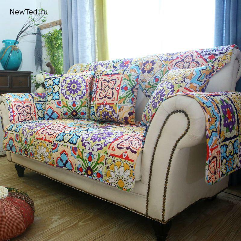 Покупка накидки на диван