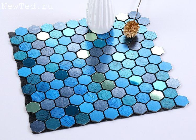 Шестиугольная мозаика самоклеящиеся