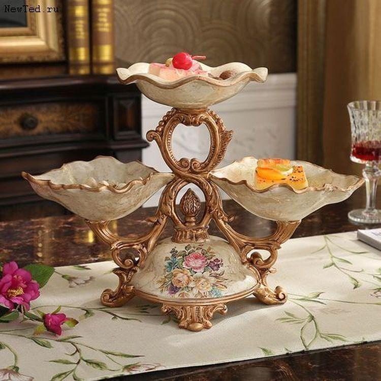 Купить декоративную вазу для цветов и конфет