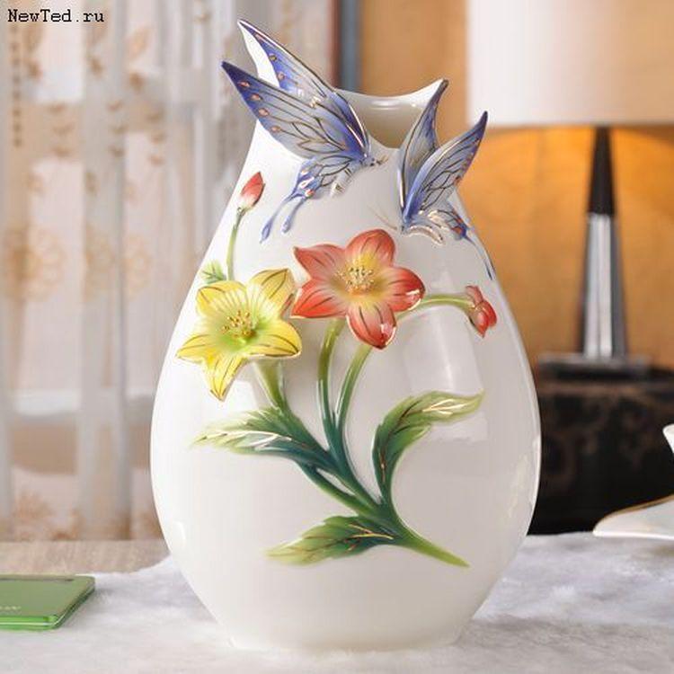 Купить декоративную вазу для интерьера