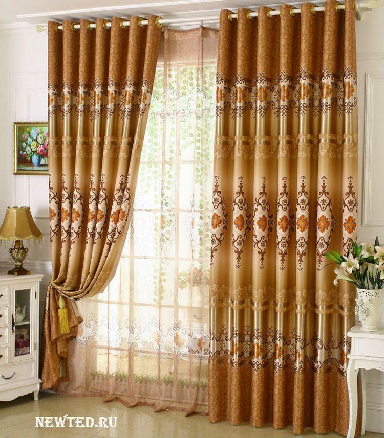красивые шторы в зал фото