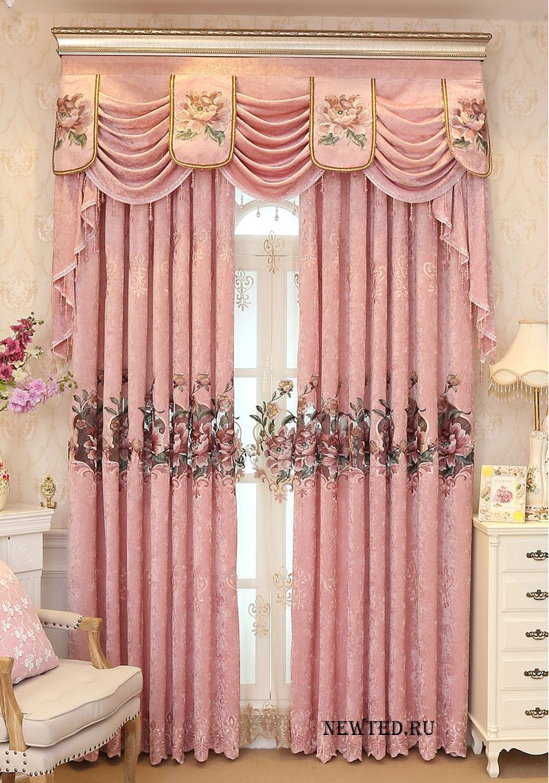 Розовая штора купи