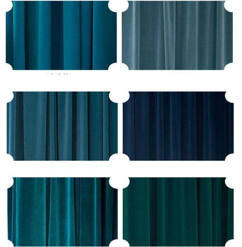 Заказать темно синие шторы в зал
