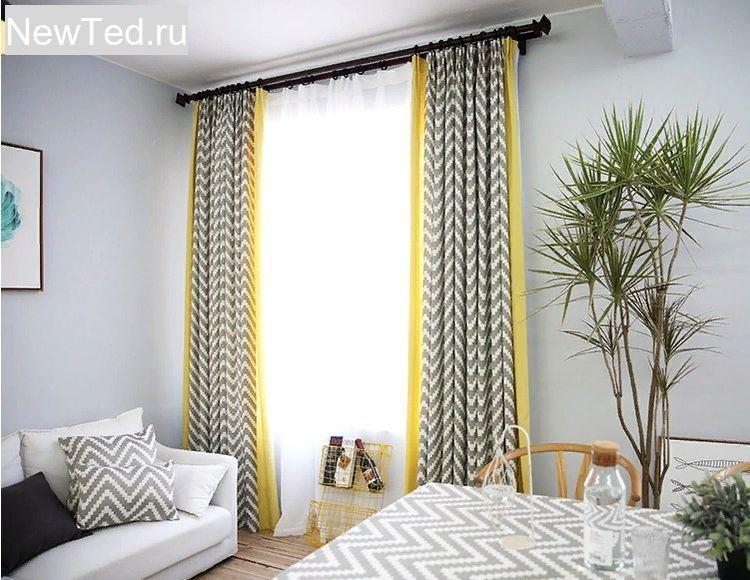 Заказать дизайн штор для гостиной